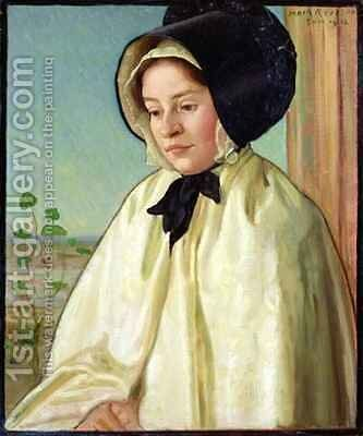 Portrait of Alice Irene Harvey by Mark Gertler - Reproduction Oil Painting