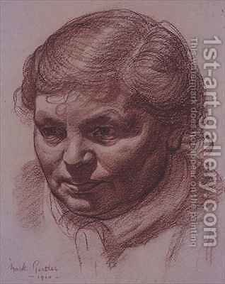Head of the artists mother by Mark Gertler - Reproduction Oil Painting