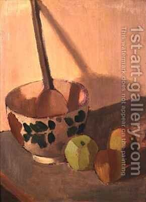 Still Life with Apples and a Mixing Bowl by Mark Gertler - Reproduction Oil Painting