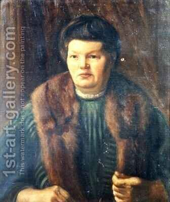 The Artists Mother by Mark Gertler - Reproduction Oil Painting
