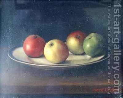 Still life with Apples by Mark Gertler - Reproduction Oil Painting
