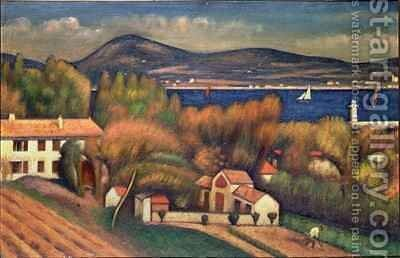 St Tropez by Mark Gertler - Reproduction Oil Painting