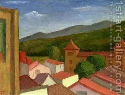 The Monastery by Mark Gertler - Reproduction Oil Painting