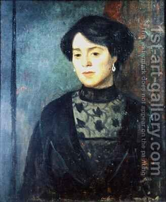The Artists Sister Sophie by Mark Gertler - Reproduction Oil Painting
