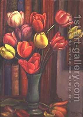Tulips by Mark Gertler - Reproduction Oil Painting