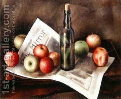 Still life with apples 2 by Mark Gertler - Reproduction Oil Painting