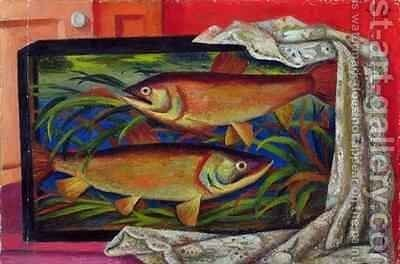 Fish by Mark Gertler - Reproduction Oil Painting