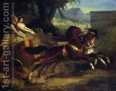 Ancient Chariot Race by Theodore Gericault - Reproduction Oil Painting