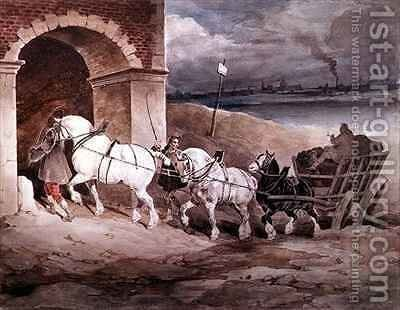 Le Tour a Platre by Theodore Gericault - Reproduction Oil Painting