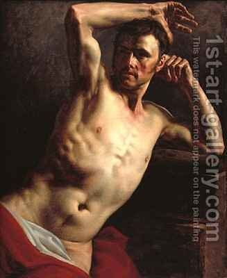 Male nude half length by Theodore Gericault - Reproduction Oil Painting