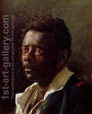 Bust portrait of a Negro by Theodore Gericault - Reproduction Oil Painting