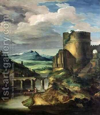Paysage Classique Matin by Theodore Gericault - Reproduction Oil Painting