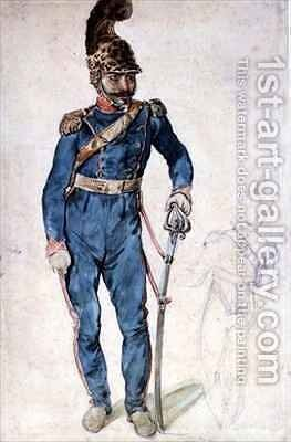 Mustapha Gericaults servant in the uniform of Colonel Bro by Theodore Gericault - Reproduction Oil Painting