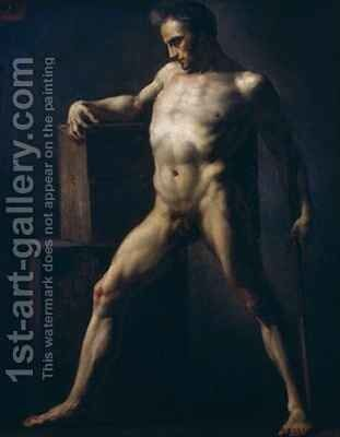 Study of a Man 2 by Theodore Gericault - Reproduction Oil Painting