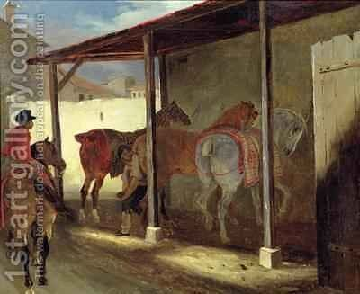 The Barn of Marechal Ferrant by Theodore Gericault - Reproduction Oil Painting