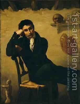 Portrait of an Artist in his Studio by Theodore Gericault - Reproduction Oil Painting