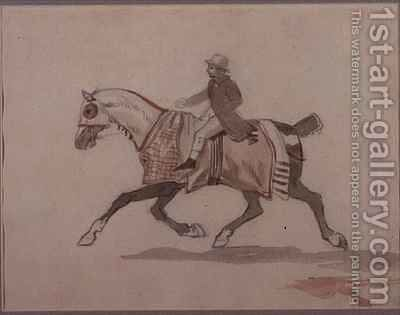 Little groom on a trotting horse by Theodore Gericault - Reproduction Oil Painting