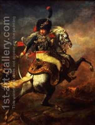 Officer of the Hussars 2 by Theodore Gericault - Reproduction Oil Painting