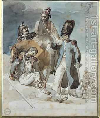 Episode from Napoleons Retreat from Russia in 1812 by Theodore Gericault - Reproduction Oil Painting