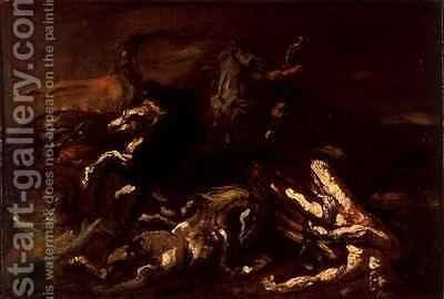 The Death of Hippolytus by Theodore Gericault - Reproduction Oil Painting