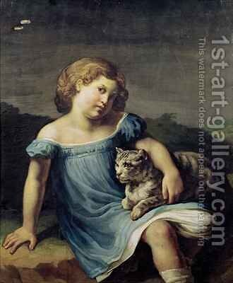 Portrait of Louise Vernet as a Child by Theodore Gericault - Reproduction Oil Painting