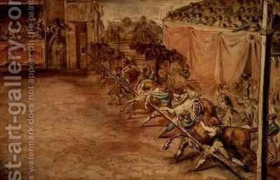 The race on the Corso by Theodore Gericault - Reproduction Oil Painting