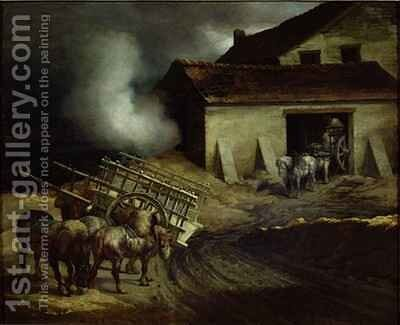 The Kiln at the Plaster Works 2 by Theodore Gericault - Reproduction Oil Painting