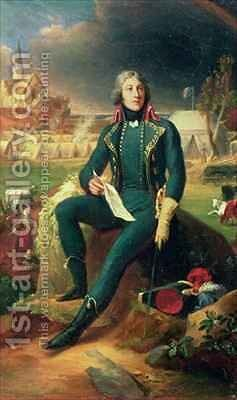 Portrait of General Louis Lazare Hoche 1768-97 by Baron Francois Gerard - Reproduction Oil Painting