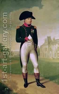 Napoleon I 1769-1821 in Front of the Chateau de Malmaison by Baron Francois Gerard - Reproduction Oil Painting