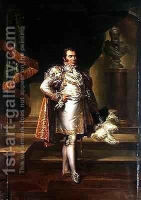 Charles Ferdinand of France 1778-1820 in the Costume of a French Prince by Baron Francois Gerard - Reproduction Oil Painting