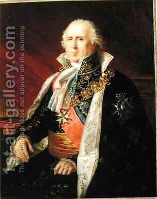 Charles Francois Lebrun 1739-1824 Duke of Plaisance in the Costume of the Archtreasurer of the Empire by Baron Francois Gerard - Reproduction Oil Painting