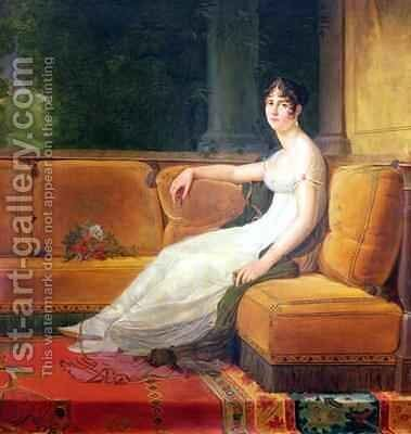 Empress Josephine 1763-1814 at Malmaison by Baron Francois Gerard - Reproduction Oil Painting