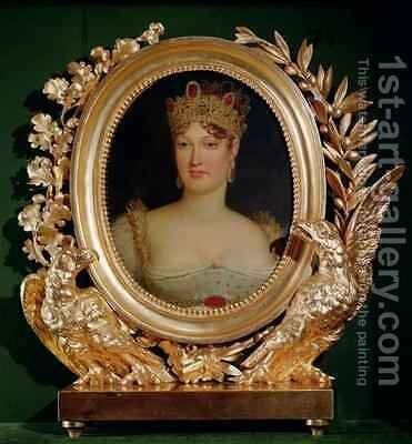 Portrait of Empress Marie Louise (1791-184 of Austria by Baron Francois Gerard - Reproduction Oil Painting