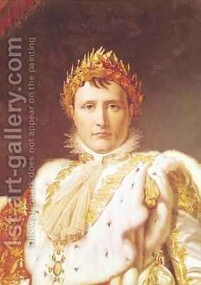 Napoleon I 1769-1821 in Coronation Robes by Baron Francois Gerard - Reproduction Oil Painting