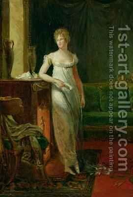 Catherine Worlee 1762-1835 Duchess of Talleyrand Perigord by Baron Francois Gerard - Reproduction Oil Painting
