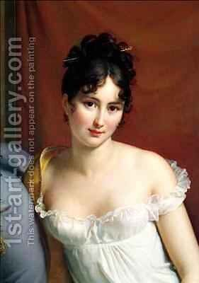 Portrait of Madame Recamier 1777-1849 by Baron Francois Gerard - Reproduction Oil Painting