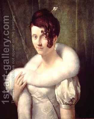 Portrait of a woman with a hair pin by Baron Francois Gerard - Reproduction Oil Painting