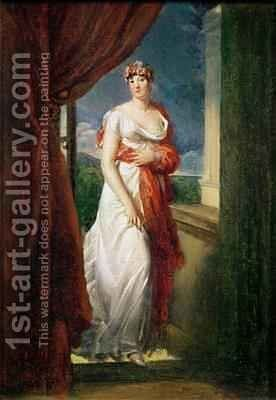 Madame Tallien 1773-1835 by Baron Francois Gerard - Reproduction Oil Painting