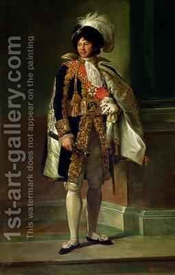Joachim Murat 1767-1815 by Baron Francois Gerard - Reproduction Oil Painting