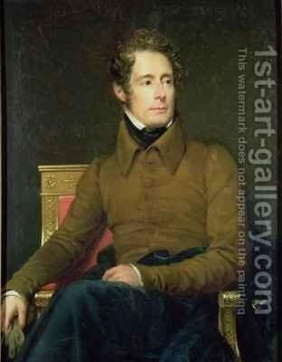 Portrait of Alphonse de Lamartine 1790-1869 by Baron Francois Gerard - Reproduction Oil Painting