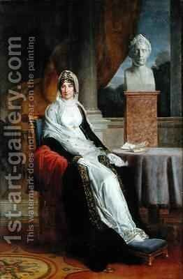 Marie Laetitia Ramolino 1750-1836 3 by Baron Francois Gerard - Reproduction Oil Painting