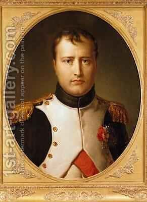 Portrait of Napoleon 1769-1821 in Uniform by Baron Francois Gerard - Reproduction Oil Painting