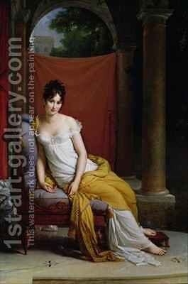 Portrait of Madame Recamier 1777-1849 2 by Baron Francois Gerard - Reproduction Oil Painting