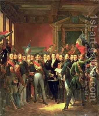The Reading of the Declaration of Deputies by Baron Francois Gerard - Reproduction Oil Painting