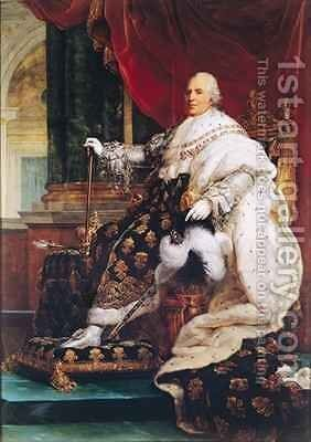 Louis XVIII 1755-1824 by Baron Francois Gerard - Reproduction Oil Painting