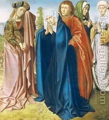 The Virgin Mary with St John the Evangelist and the Holy Women right wing from the Triptych of the Crucifixion by Gerard David - Reproduction Oil Painting
