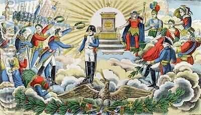 Apotheosis of Napoleon I 1769-1821 by D. Georgin - Reproduction Oil Painting
