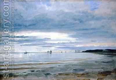 The Beach at Blankenese by Jacob Gensler - Reproduction Oil Painting