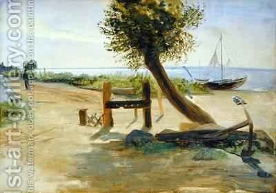 The Banks of the Elbe by Jacob Gensler - Reproduction Oil Painting