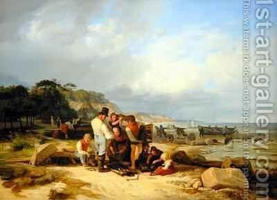 Fishermen in Probstei by Jacob Gensler - Reproduction Oil Painting
